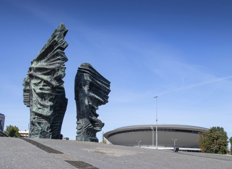 Monument to the Silesian Insurgents and the Entertainment Hall in Katowice