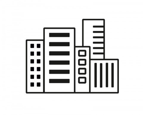 City with High Buildings - Icon