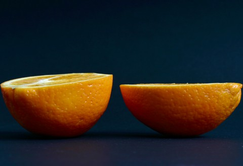 Halves of an orange