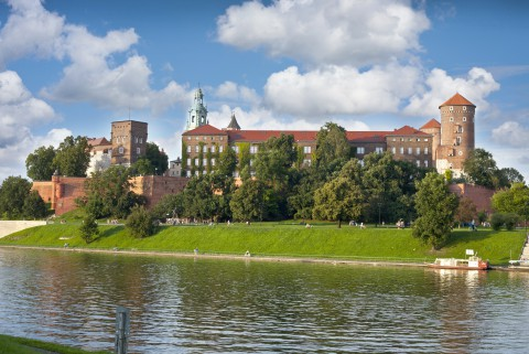 View On Wawel Hill On A Sunny Day