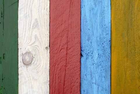 Background With Boards In Different Colors