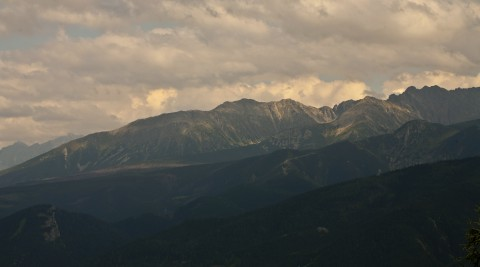 View At Tatra Mountains On A Cloudy Day